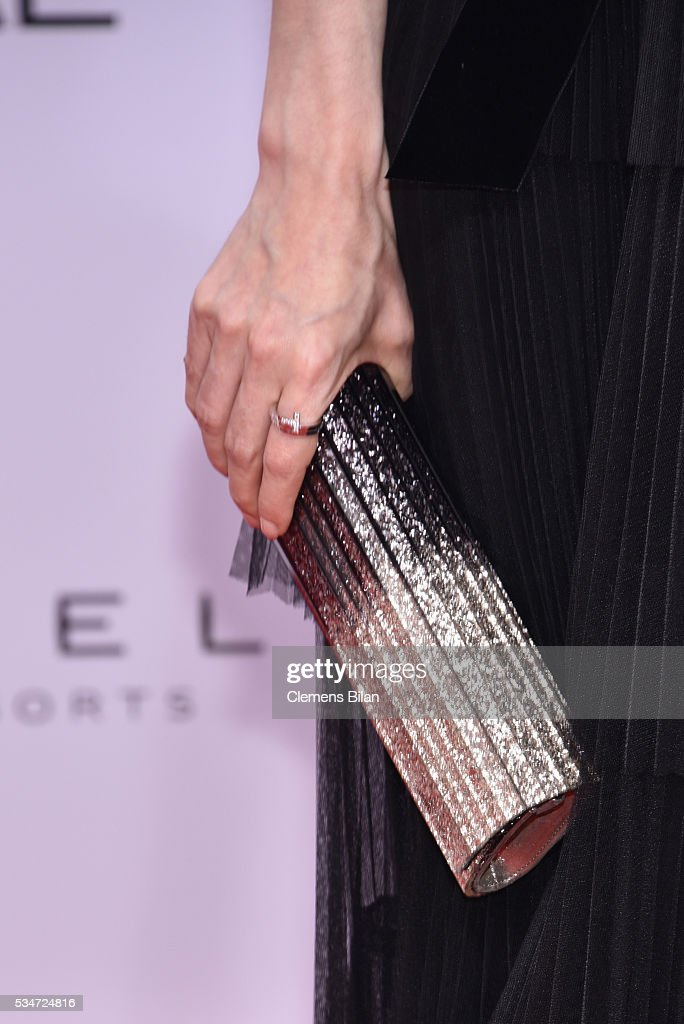 Nora von Waldstaetten, bag detail, attends the Lola - German Film Award (Deutscher Filmpreis) on May 27, 2016 in Berlin, Germany.