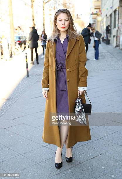 Nora von Waldstaetten during the MercedesBenz Fashion Week Berlin A/W 2017 at Kaufhaus Jandorf on January 17 2017 in Berlin Germany
