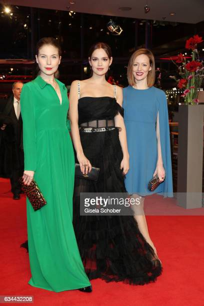 Nora von Waldstaetten Emilia Schuele and Lavinia Wilson attend the 'Django' premiere during the 67th Berlinale International Film Festival Berlin at...
