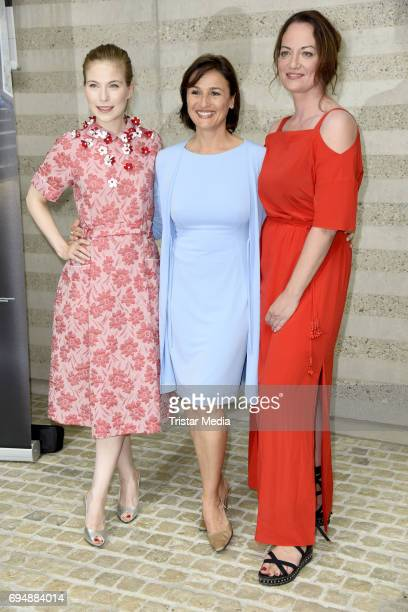 Nora von Waldstaetten Sandra Maischberger and Natalia Woerner attend the Photocall to the Premiere of 'Mata Hari Tanz mit dem Tod' on June 11 2017 in...