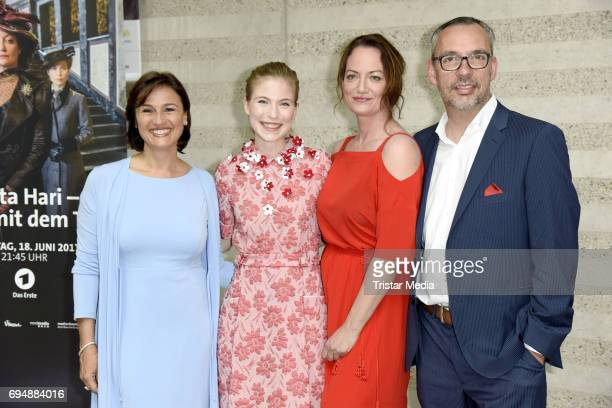 Nora von Waldstaetten Sandra Maischberger Natalia Woerner and Kai Christiansen attend the Photocall to the Premiere of 'Mata Hari Tanz mit dem Tod'...