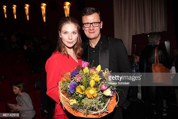 MUNICH GERMANY JANUARY Nora von Waldstaetten Torsten Koch attend the premiere of the film 'Fuenf Freunde 3' at Cinemaxx on January 12 2014 in Munich...