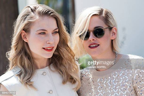Nora von Waldstatten and Kristen Stewart attends the 'Personal Shopper' photocall during the 69th annual Cannes Film Festival at the Palais des...