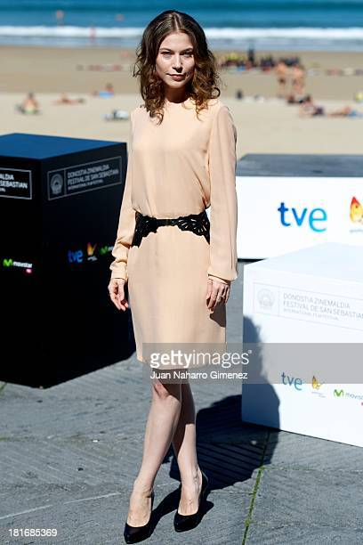 Nora von Waldstatten attends 'Oktober/November' photocall during 61st San Sebastian Film Festival on September 23 2013 in San Sebastian Spain
