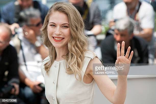 Nora von Waldstatten attends the 'Personal Shopper' photocall during the 69th annual Cannes Film Festival at the Palais des Festivals on May 17 2016...