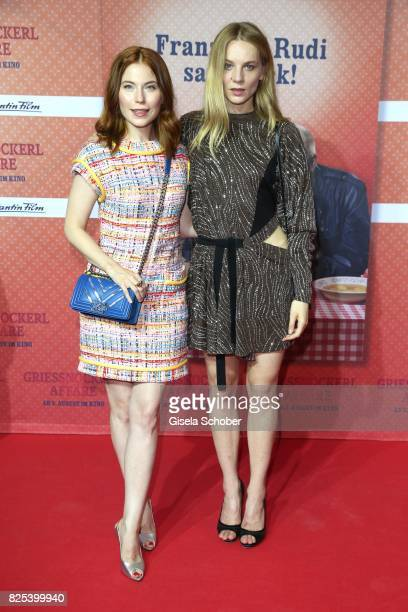 Nora Waldstaetten and Lilith Stangenberg during the 'Griessnockerlaffaere' premiere at Mathaeser Filmpalast on August 1 2017 in Munich Germany