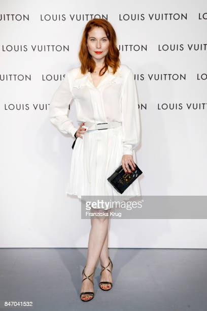 Nora Waldstaetten wearing Louis Vuitton attends the 'Louis Vuitton Time Capsule' Exhibition Opening at Franzoesisches Palais on September 14 2017 in...