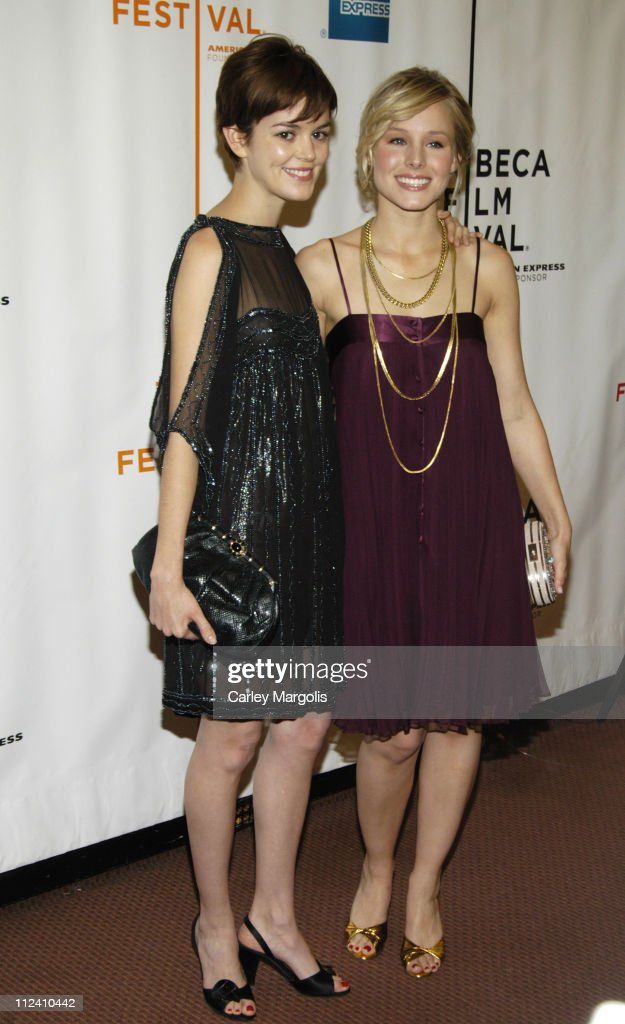 Nora Zehetner and Kristen Bell during 5th Annual Tribeca Film Festival 'Fifty Pills' Premiere Arrivals at Pace University's Schimmel Center for the...