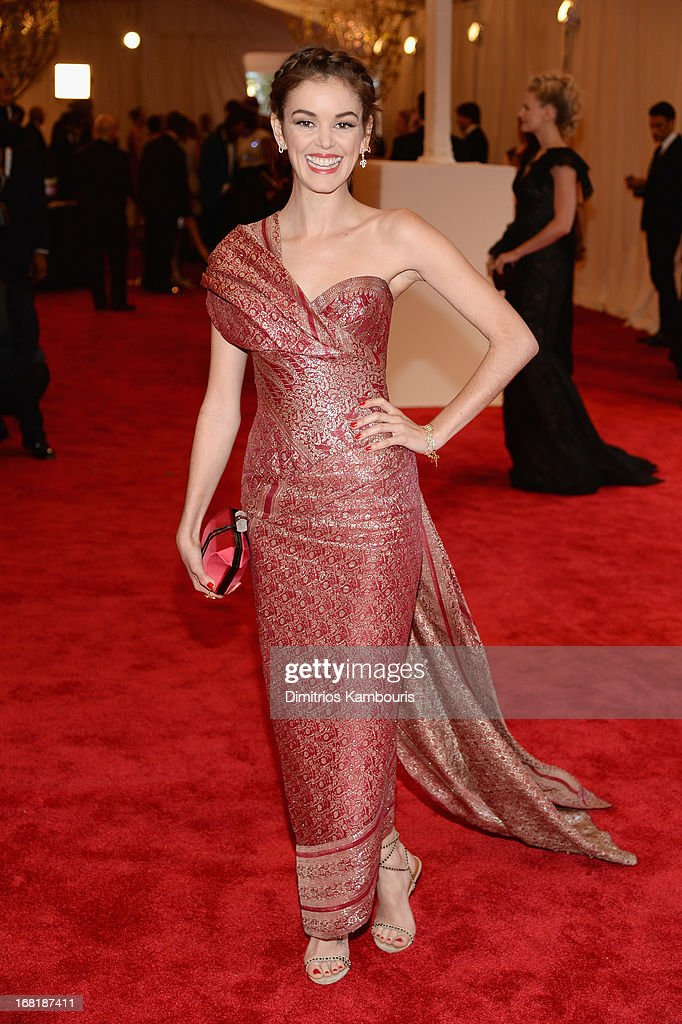 Nora Zehetner attends the Costume Institute Gala for the 'PUNK Chaos to Couture' exhibition at the Metropolitan Museum of Art on May 6 2013 in New...