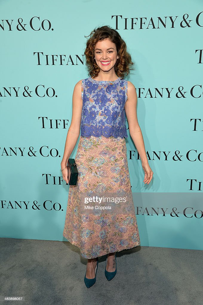 Nora Zehetner attends the Tiffany Debut of the 2014 Blue Book on April 10 2014 at the Guggenheim Museum in New York United States
