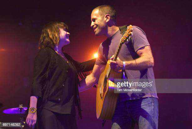 Norah Jones and Jack Johnson perform during the Monterey International Pop Festival 2017 at Monterey County Fairgrounds on June 17 2017 in Monterey...