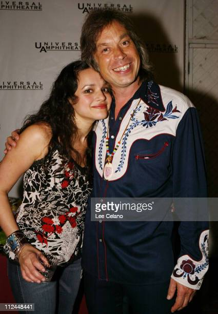 Norah Jones and Jim Lauderdale during Return To Sin City A Tribute to Gram Parsons Backstage July 10 2004 at Universal Amphitheatre in Universal City...