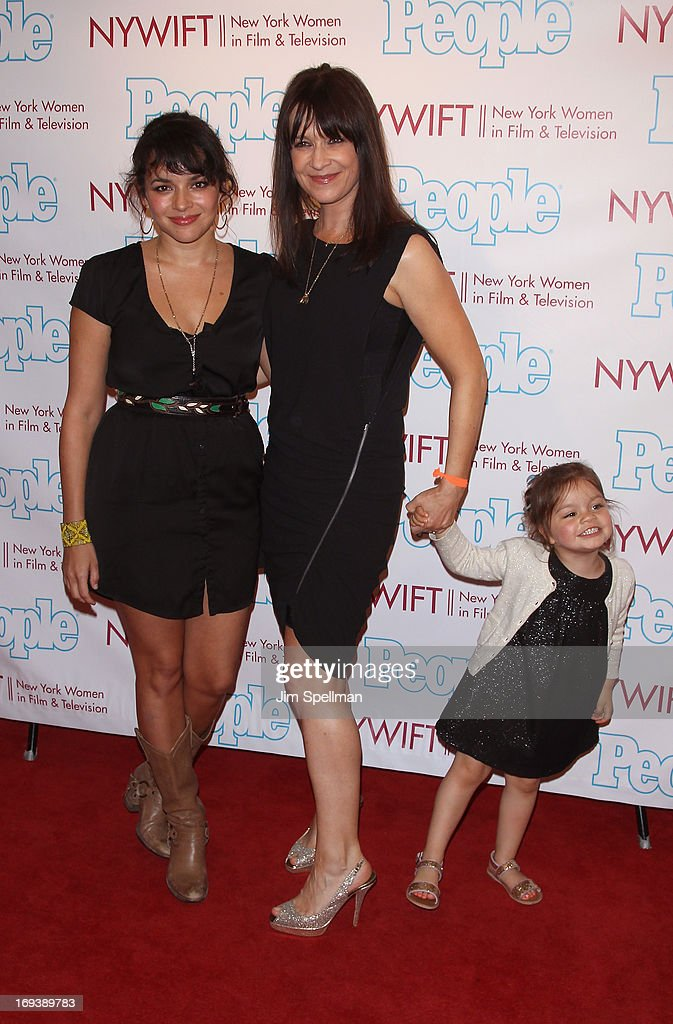 Norah Jones and Mandy Lyons with daughter Hattie Lyons Lyons attend 2013 NYWIFT Designing Women Awards at The McGraw-Hill Building on May 23, 2013 in New York City.