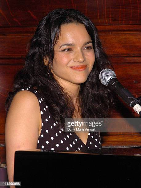 Norah Jones during Celebrity Rainforest Action Network Benefit at The Plumm in New York City New York United States