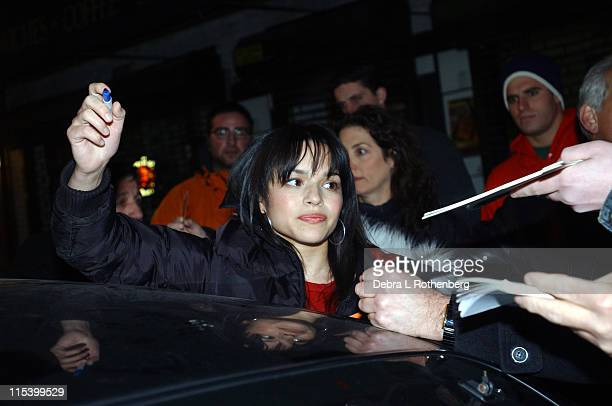Norah Jones during Norah Jones Jeff Goldblum and Rob Cesternino from 'Survivor All Stars' Stop by 'The Late Show with David Letterman' at Ed Sullivan...