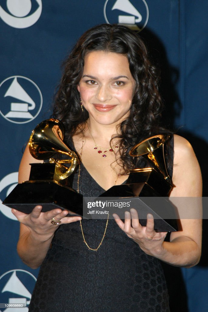<a gi-track='captionPersonalityLinkClicked' href=/galleries/search?phrase=Norah+Jones&family=editorial&specificpeople=203151 ng-click='$event.stopPropagation()'>Norah Jones</a> during The 45th Annual GRAMMY Awards - Press Room at Madison Square Garden in New York City, New York, United States.