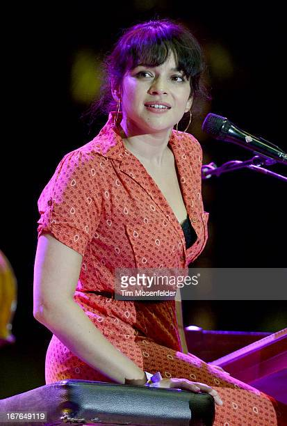 Norah Jones of The Little Willies performs as part of the Stagecoach Music Festival at the Empire Polo Grounds on April 26 2013 in Indio California