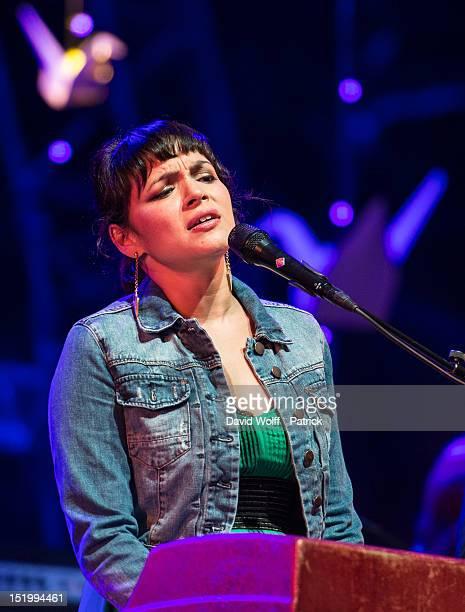 Norah Jones performs at We Love Green Festival at Parc de Bagatelle on September 14 2012 in Paris France