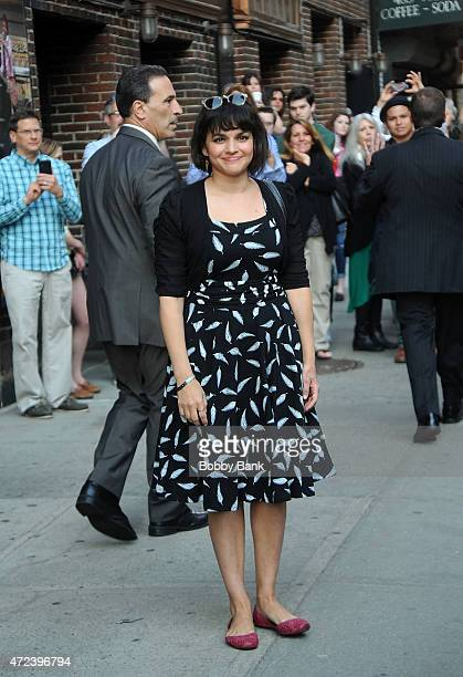 Norah Jones performs on the 'Late Show with David Letterman' on May 6 2015 in New York City
