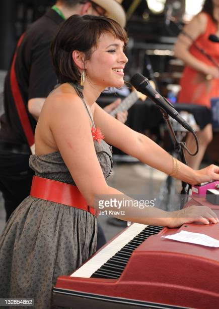 Norah Jones performs onstage during Bonnaroo 2010 at Which Stage on June 12 2010 in Manchester Tennessee