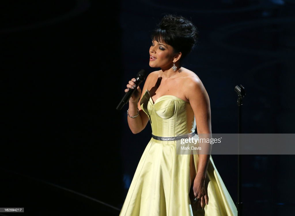 Norah Jones performs onstage during the Oscars held at the Dolby Theatre on February 24, 2013 in Hollywood, California.