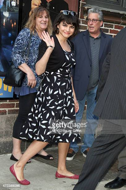 Norah Jones seen at 'Late Show with David Letterman' on May 06 2015 in New York City