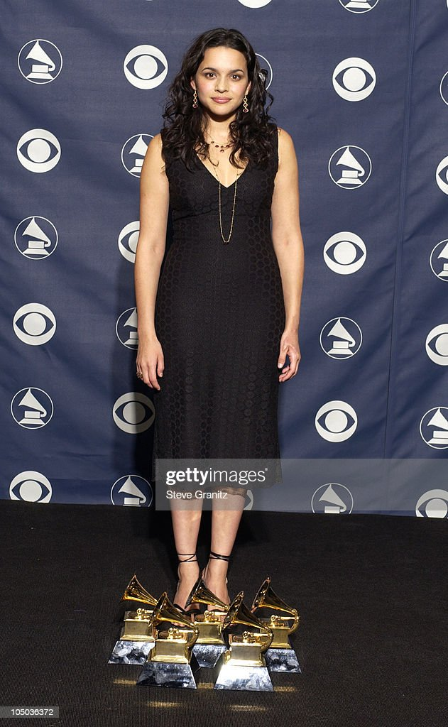 <a gi-track='captionPersonalityLinkClicked' href=/galleries/search?phrase=Norah+Jones&family=editorial&specificpeople=203151 ng-click='$event.stopPropagation()'>Norah Jones</a> wins five GRAMMYs, for Best Pop Vocal Album for 'Come Away With Me', Best Female Pop Vocal Performance for 'Don't Know Why', Album of the Year for 'Come Away With Me', Record of the Year for 'Don't Know Why' and Best New Artist.
