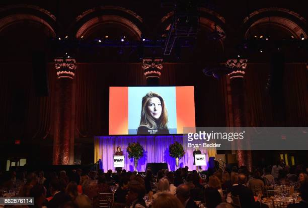 Norah O'Donnell and Cynthia McFadden speak onstage at The International Women's Media Foundation's 28th Annual Courage In Journalism Awards Ceremony...