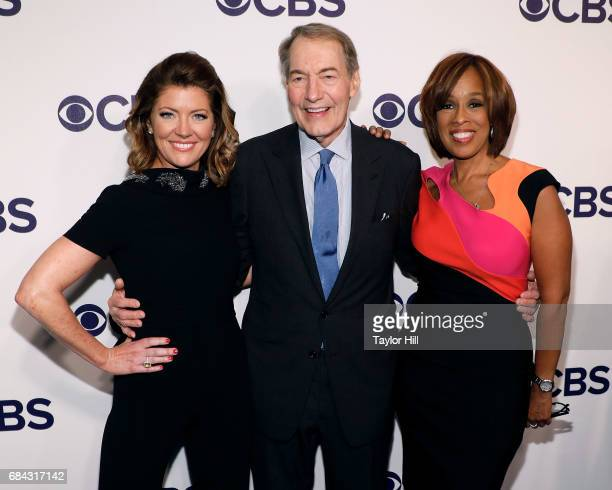 Norah O'Donnell Charlie Rose and Gayle King attend the 2017 CBS Upfront at The Plaza Hotel on May 17 2017 in New York City