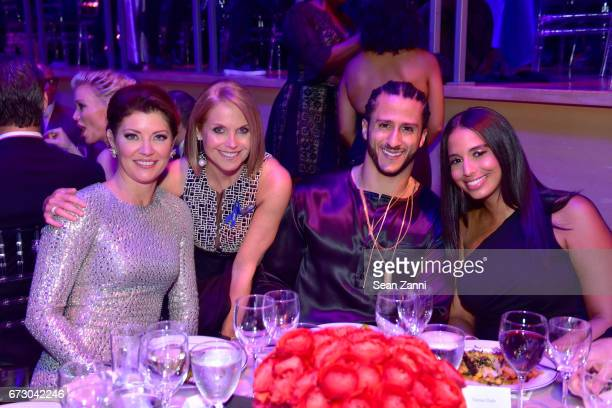 Norah O'Donnell Katie Couric Colin Kaepernick and Nessa attend the 2017 TIME 100 Gala at Jazz at Lincoln Center on April 25 2017 in New York City