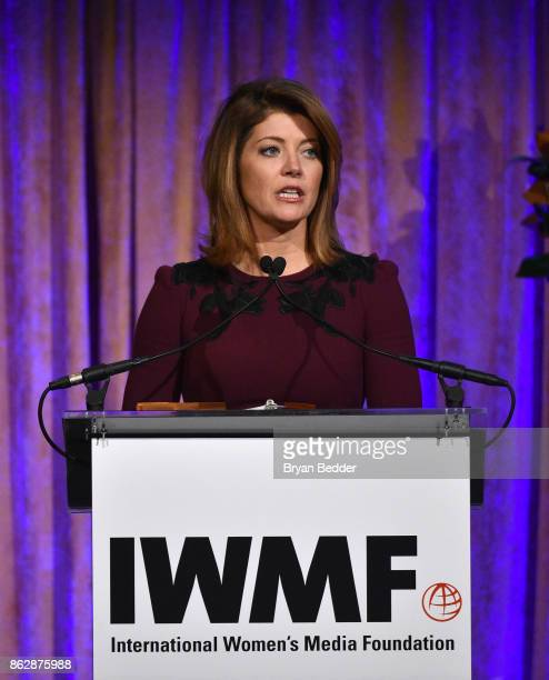 Norah O'Donnell speaks onstage at The International Women's Media Foundation's 28th Annual Courage In Journalism Awards Ceremony at Cipriani 42nd...