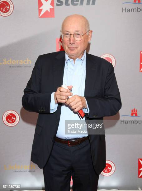Norbert Aust during the Henri Nannen Award red carpet arrivals on April 27 2017 in Hamburg Germany