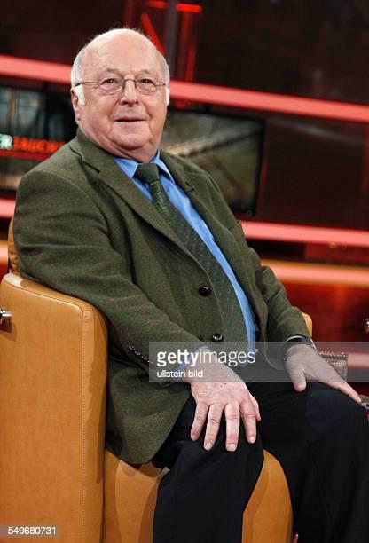 Norbert Blüm in der TalkShow 'GÜNTHERJAUCH' in Berlin