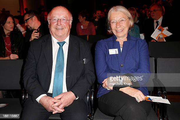 Norbert Bluem and Karin Waldmann attend the 15th Media Award By Kindernothilfe at Hauptstadtrepraesentanz Deutsche Telekom AG on November 15 2013 in...