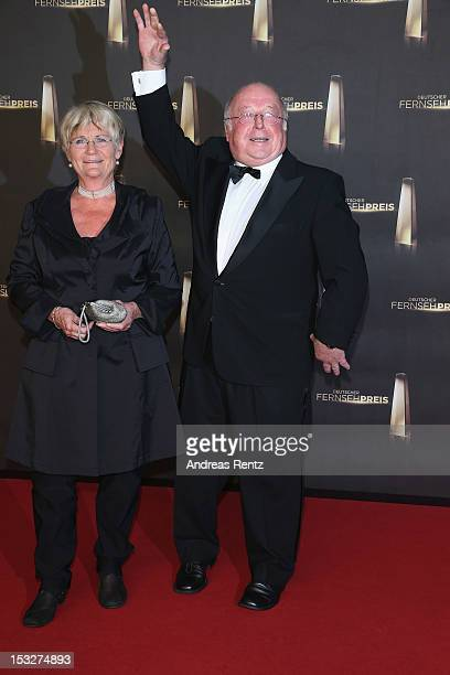 Norbert Bluem and wife Marita Bluem arrive for the German TV Award 2012 at Coloneum on October 2 2012 in Cologne Germany