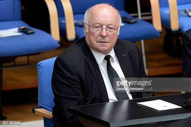 Norbert Bluem attends the state memorial ceremony to honor HansDietrich Genscher at World Congress Center on April 17 2016 in Bonn Germany Genscher a...