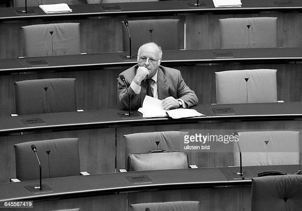 Norbert BLUEM CDU Minister for Labour in German parliament Bundestag in September 1995