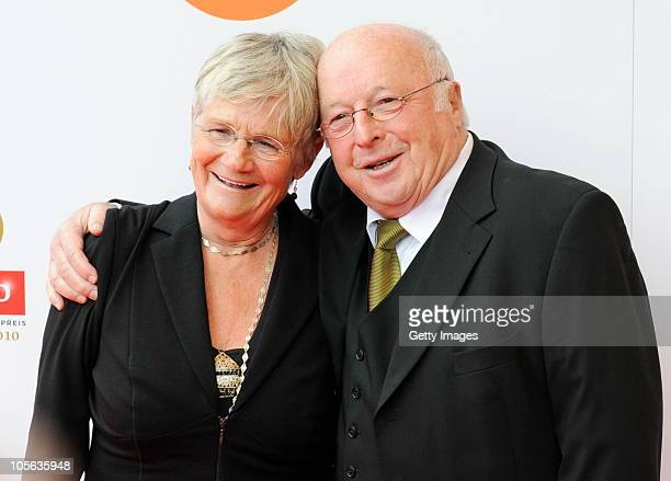 Norbert Bluem with his wife Marita arrive to the Echo Klassik Award 2010 at Philharmonie on October 17 2010 in Essen Germany