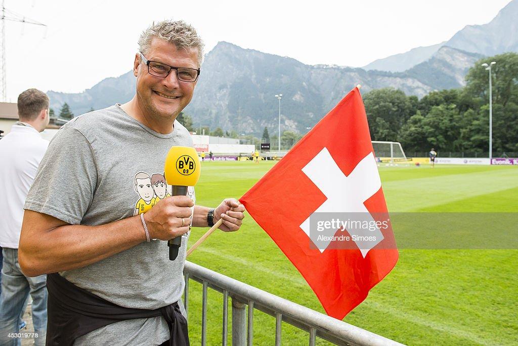 Norbert Dickel (BVB) of Borussia Dortmund on August 1, 2014 in Bad Ragaz, Switzerland.