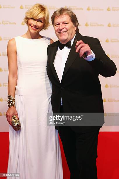 Norbert Haug and his partner Anne Wis arrive for the 'Ball des Sports 2013' at RheinMainHallen on February 2 2013 in Wiesbaden Germany