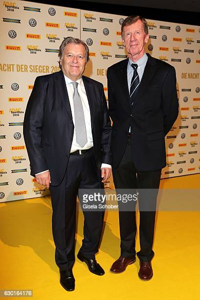 Norbert Haug and Walter Roehrl double Rallye World Champion during the ADAC sportgala 'Die Nacht der Sieger 2016' on December 17 2016 in Munich...