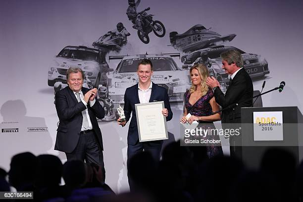 Norbert Haug Maximilian Guenther F3 driver 2nd European Champion with award Julia Josten and Hermann Tomczyk ADAC Sportpresident during the ADAC...
