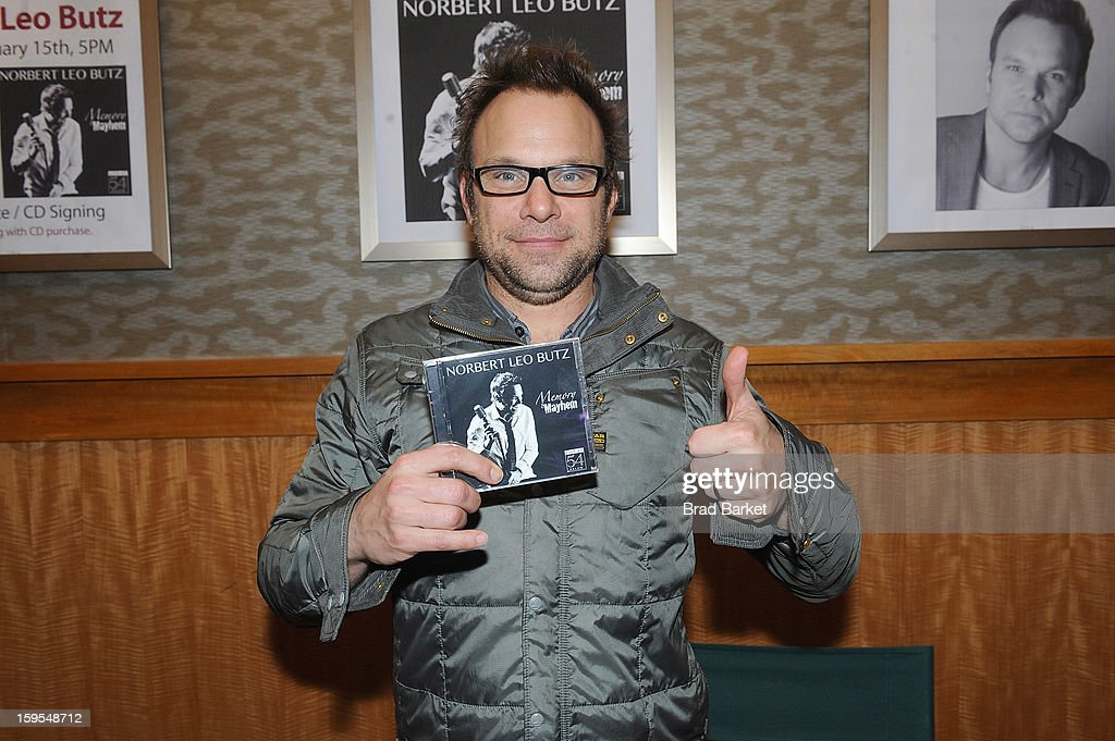 <a gi-track='captionPersonalityLinkClicked' href=/galleries/search?phrase=Norbert+Leo+Butz&family=editorial&specificpeople=206859 ng-click='$event.stopPropagation()'>Norbert Leo Butz</a> attends a CD signing and performance at Barnes & Noble, 86th & Lexington on January 15, 2013 in New York City.