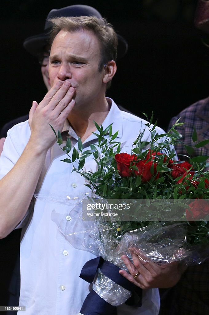 Norbert Leo Butz takes a bow during the Curtain Call for the 'Big Fish' Broadway Opening Night at Neil Simon Theatre on October 6, 2013 in New York City.