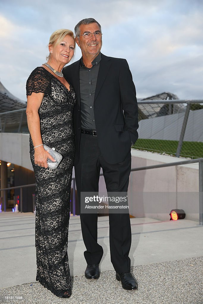 Norbert Medus and Sabine Christiansen attend the Laureus Sport for Good Night 2013 at Munich Olympiahalle on September 20, 2013 in Munich, Germany.