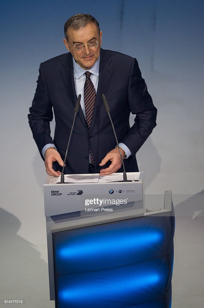 Norbert Reithofer, Chairman of the Supervisory Board of German automaker BMW, speaks at the celebration marking the 100th anniversary of BMW on March 7, 2016 in Munich, Germany. BMW began as a producer of aircraft engines in Germany during World War I, later began producing motorcycles and in 1928 its first automobiles. BMW AG is the parent company of BMW Group, which also owns the car brands Mini and Rolls-Royce.