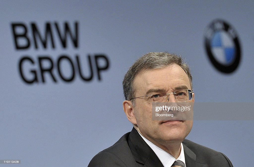 Norbert Reithofer chief executive officer of Bayerische Motoren Werke AG pauses during the presentation of the company's 2010 results in Munich...