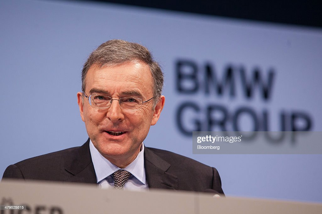 Norbert Reithofer chief executive officer of Bayerische Motoren Werke AG speaks during a news conference to announce the company's financial results...