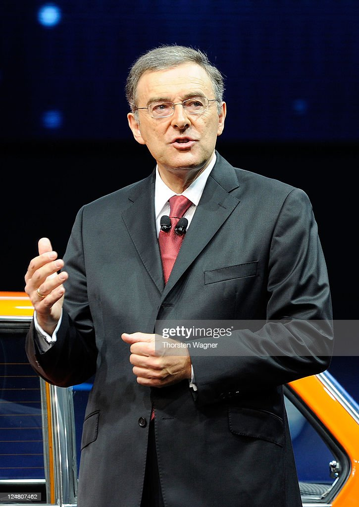 Norbert Reithofer speaks to the media during the press days at the IAA Frankfurt Auto Show on September 13 2011 in Frankfurt am Main Germany The IAA...