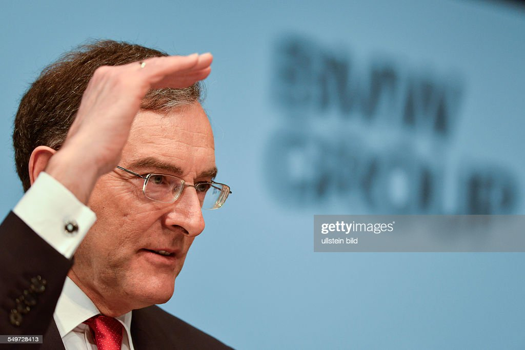 Norbert Reithofer Vorstandsvorsitzender der BMW Group waehrend der Bilanzpressekonferenz der BMW Group fuer das Geschaeftsjahr 2012 am 19 Maerz 2013...